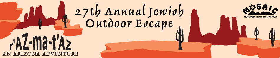 Jewish Outdoor Escape 2017